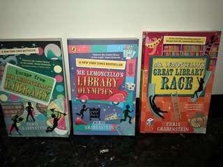 New York Times Bestseller - Mr Lemoncello Library Story Books
