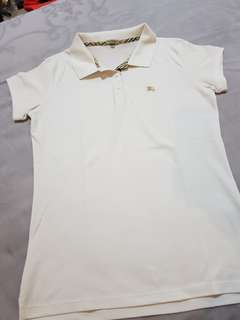 White polo shirt Burberry
