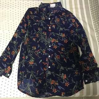 Korean floral blouse