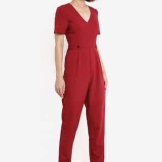 Dark Red Jumpsuit