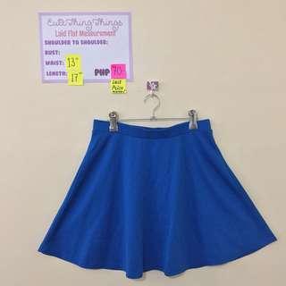 F21 Medium Royal Blue Skater Skirt