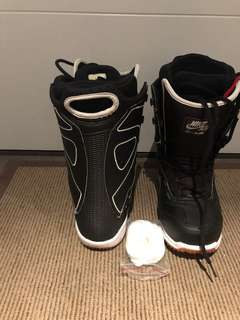 Nike snowboard boots excellent condition men's size 10.5