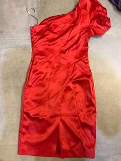 Karen Millen one shouldered red short dress