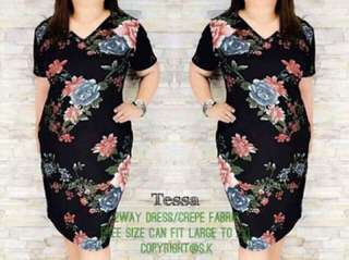 Plus size (L-XL) Floral Dress