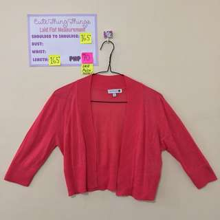 Cotton on XS Hot Pink Cropped Cardigan