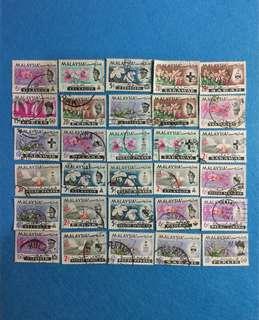 1965 Orchid State Definitives 30V