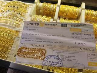 PAWNTICKET OF 916GOLD CHAIN FOR SALE