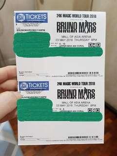 BRUNO MARS Concert Tickets- May 3