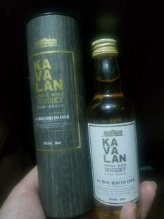 Kavalan single malt whisky ex-BOURBON OAK (50ml)