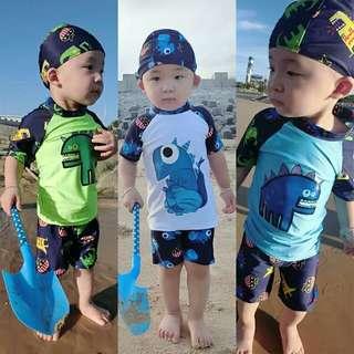 男童3件庄泳衣套庄(細童)