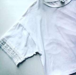 🌼白色通花短身上衣🌼