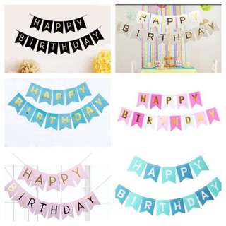 Happy Birthday Banners