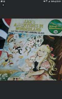 Alice's adventures in wonderland And through the looking glass  A4 SIZE  Vintage comics collectible  $10 each  Collect at hougang buangkok mrt