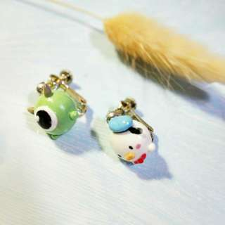 Tsum tsum 手作 耳夾 夾式耳環