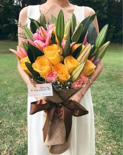 Large Lilies & Roses Mother's Day bouquet