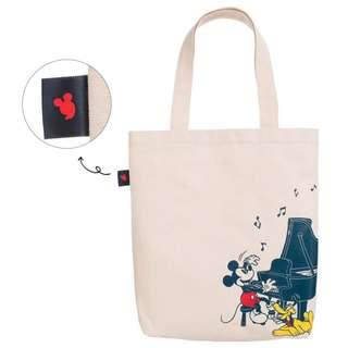 日本雜誌 LESSON BAG 鋼琴入門書 附贈 米奇 米色 帆布托特包 單肩包 帆布袋 帆布包 購物袋 米老鼠 迪士尼