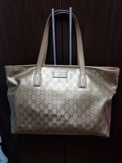 Like New 100% Authentic Gucci Gold Bag