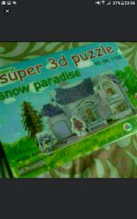 BARBIE snow paradise    Create Your Own Dollhouse      Super 3d Puzzle   BARBIE doll  Snow Paradise    Pick Up Buangkok Hougang     Or Add $1 For Postage