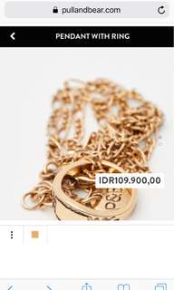 Pull and Bear Pendant With Ring