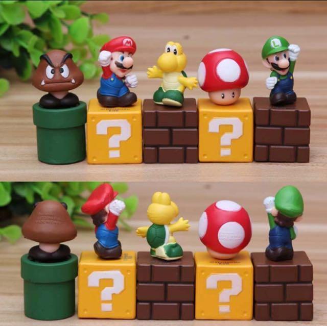 5 Pcs Super Mario Luigi Princess Peach Nintendo Cake