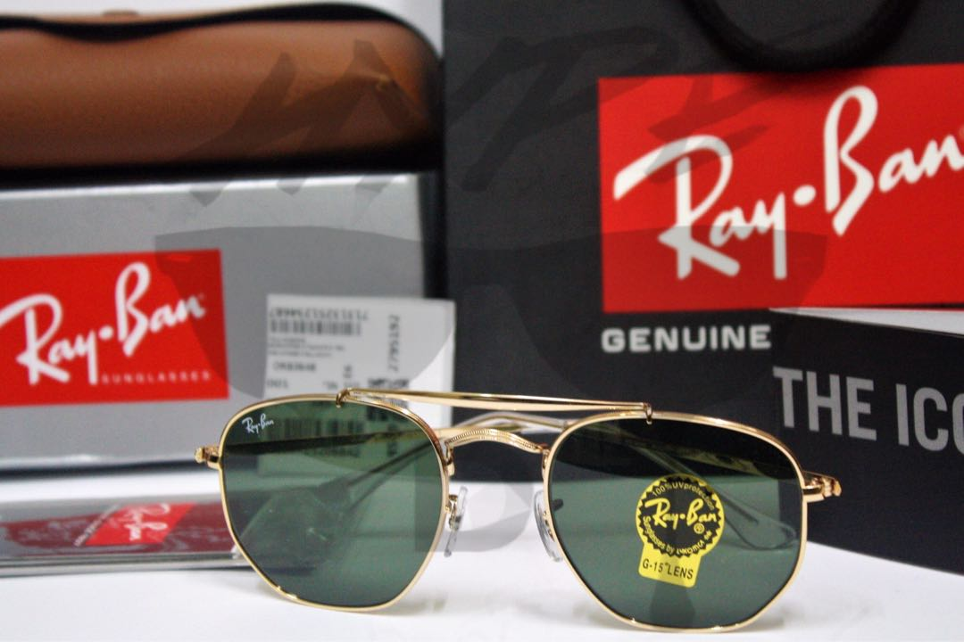 1aa38bd637 Authentic Ray Ban Marshal RB3648 001 54-21.