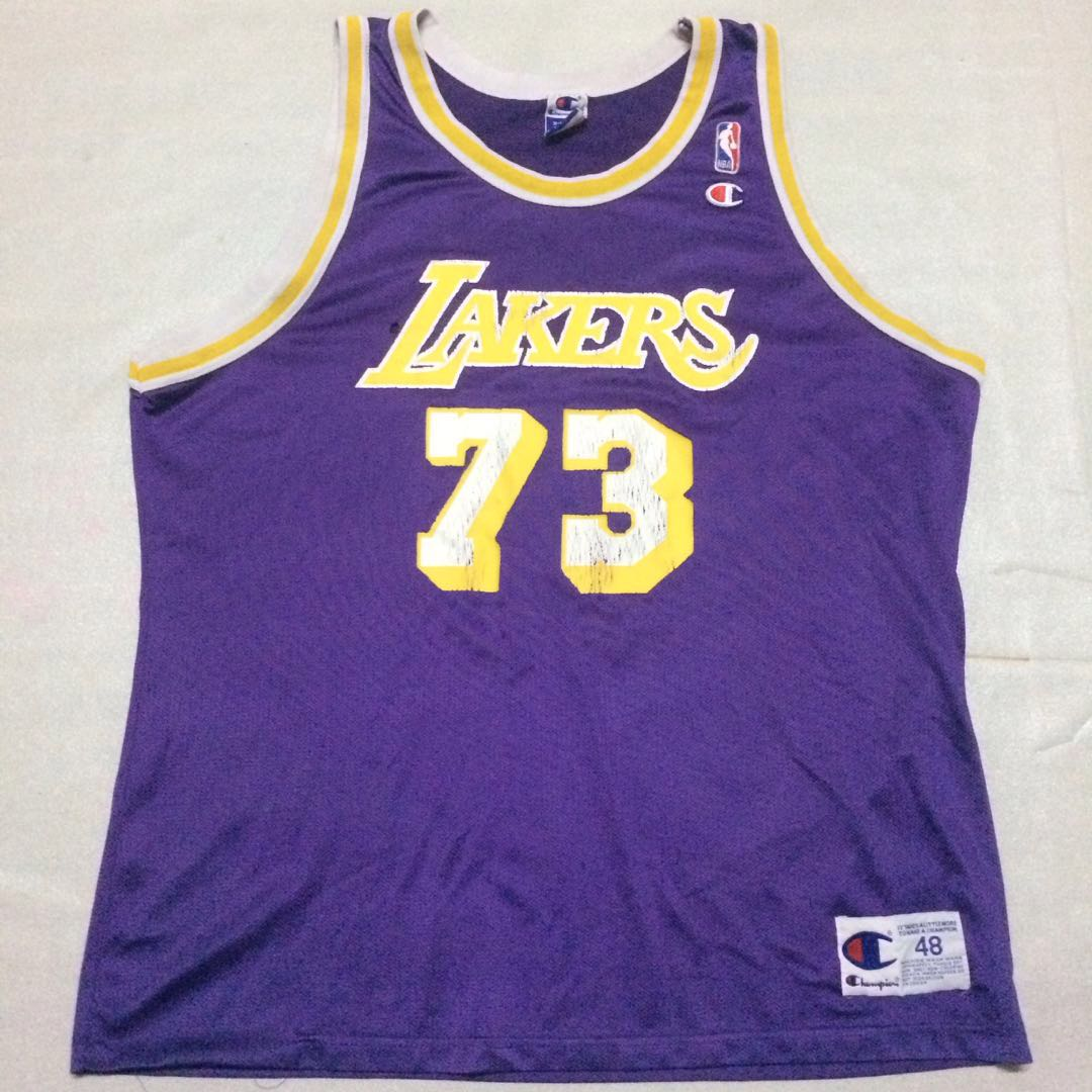 5459d304f3df Basketball Jersey champion lakers dennis rodman 73