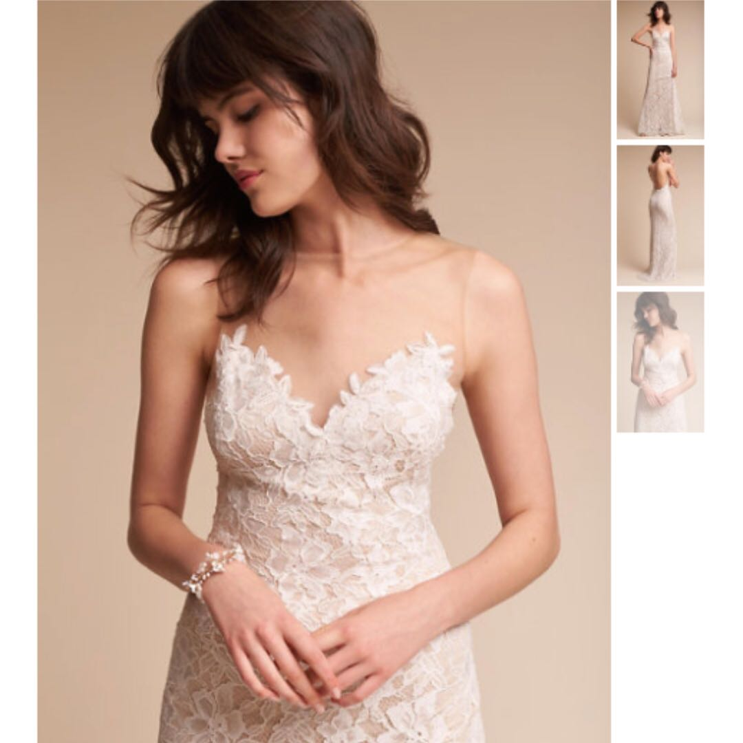 30a08a4fc60e BHLDN Helios Wedding Gown Tadashi Shoji Size 0 XS S, Women's Fashion ...