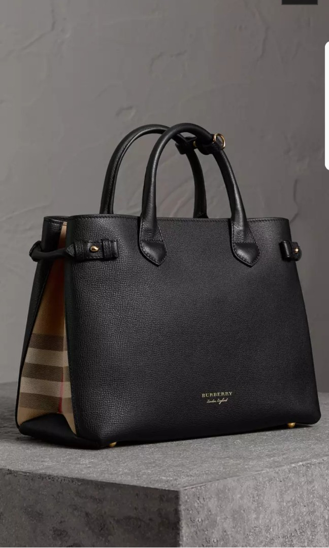 b28ad71682 Burberry Bag (THE MEDIUM BANNER IN LEATHER AND HOUSE CHECK), Luxury ...