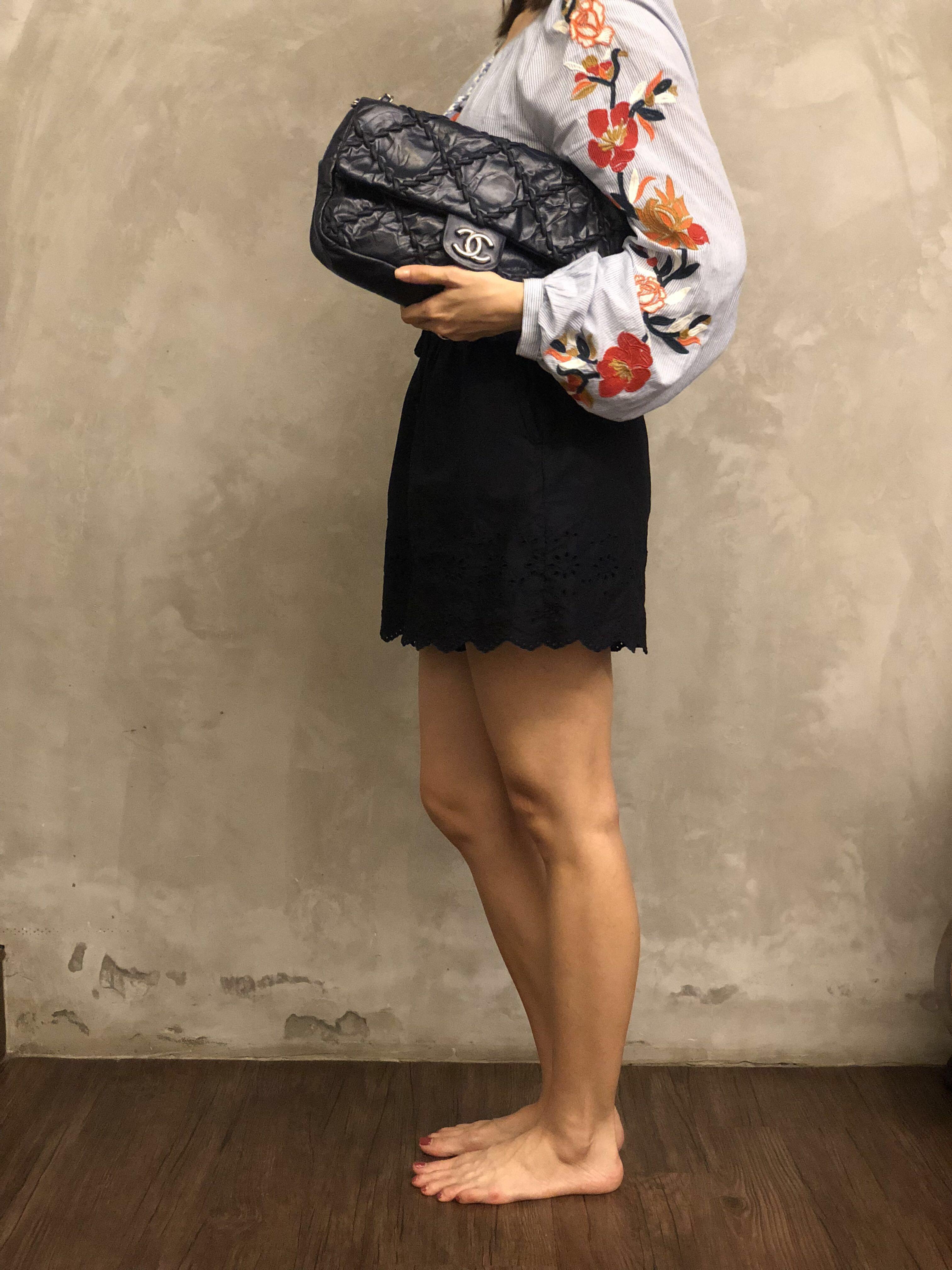 Chanel Calfskin Twisted Flap Bag
