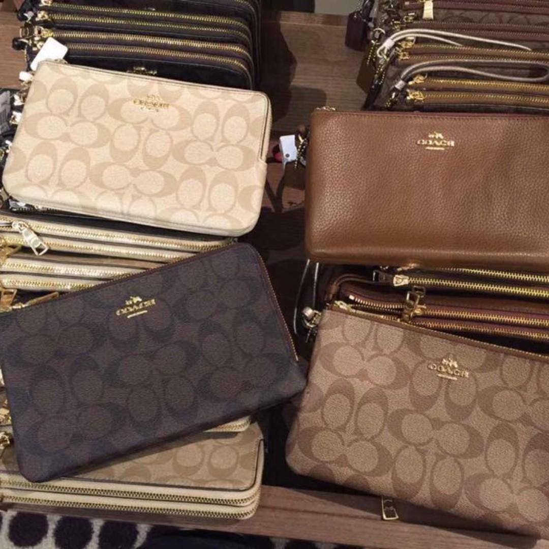 e4f690c67c ... best coach coach signature pvc double zip wristlet wallet womens  fashion bags wallets on carousell c3fda