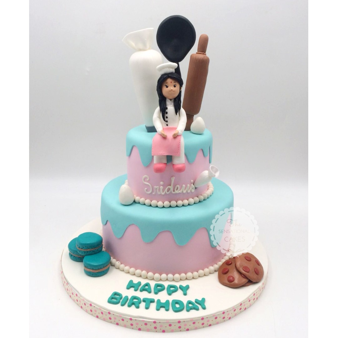 Custom Chef Women Lifestyle Birthday Cake Singapore Singaporecake
