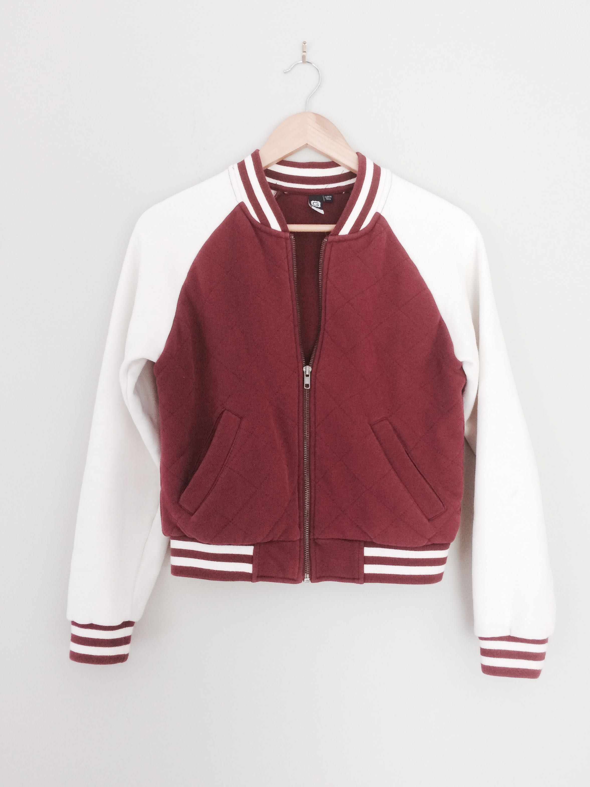 Glassons burgundy cotton jacket size M