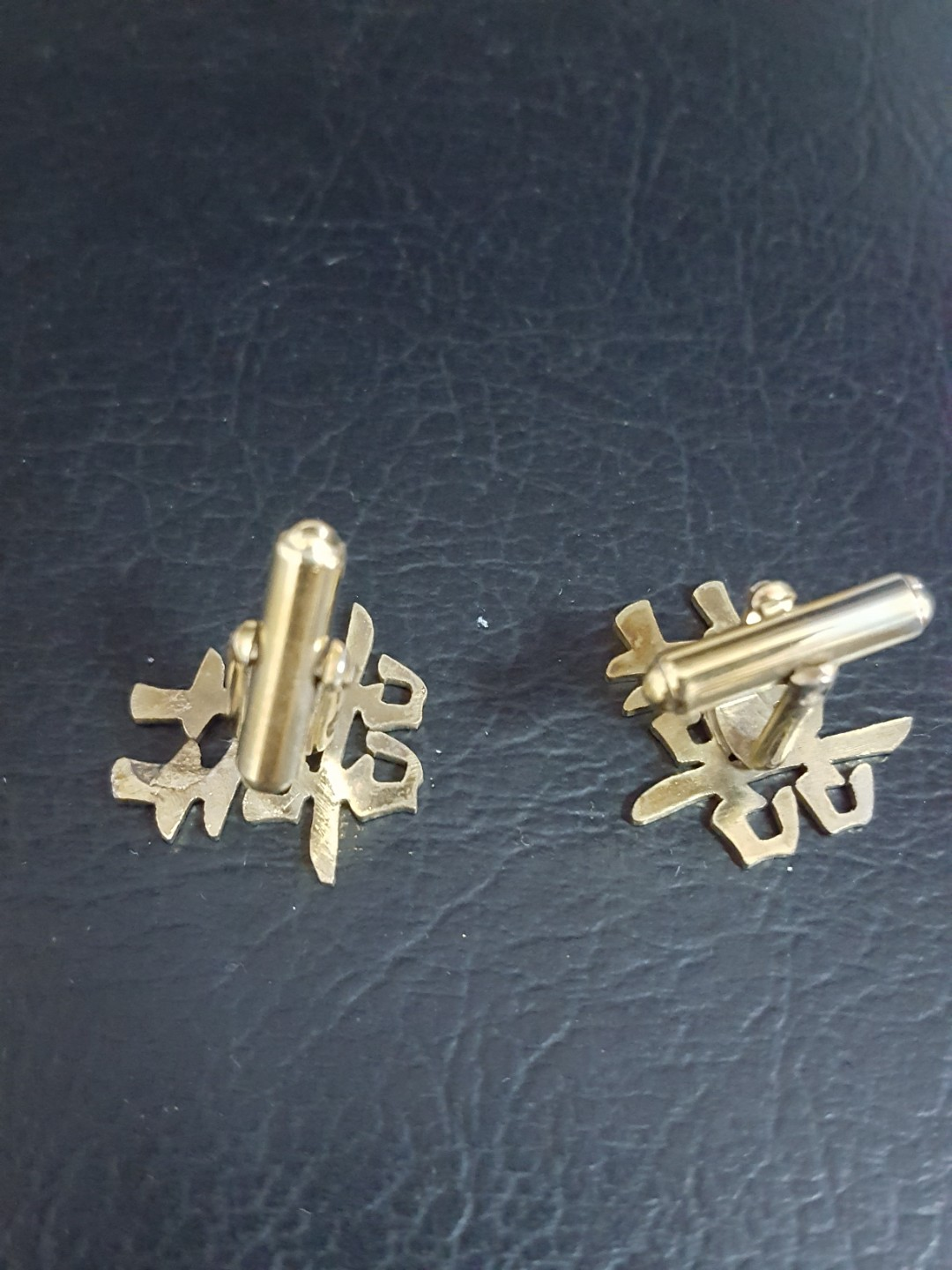 c35a1996913 Gold plated old cufflinks, 1 pair