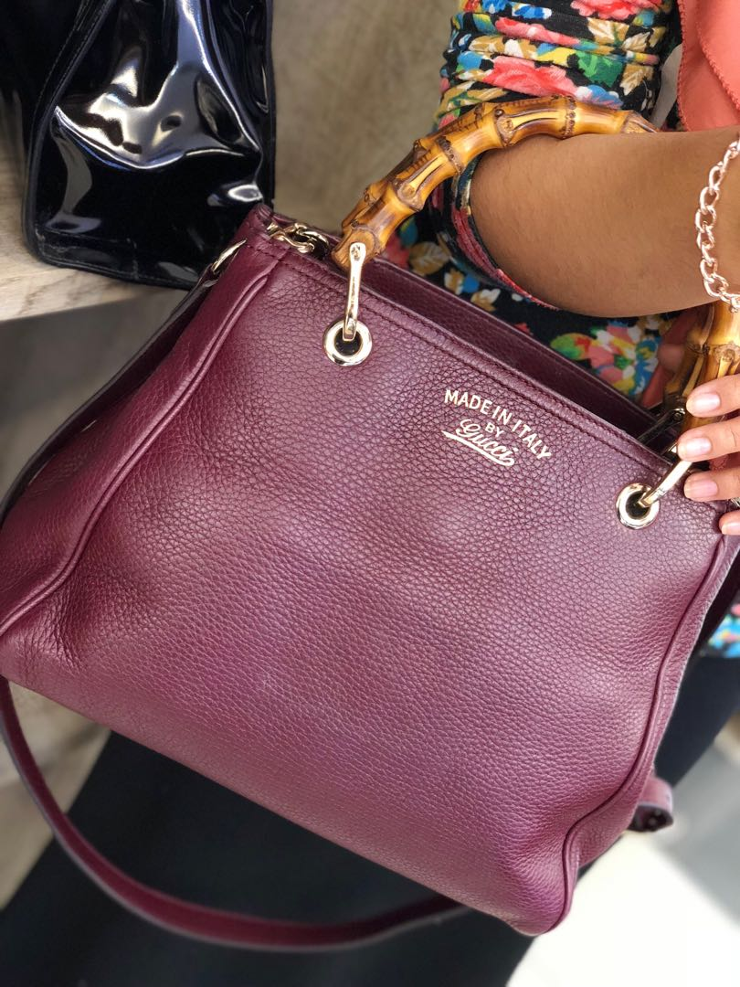 d3946b23b795 Gucci Bamboo Shopper Leather Mini Bag, Luxury, Bags & Wallets on Carousell