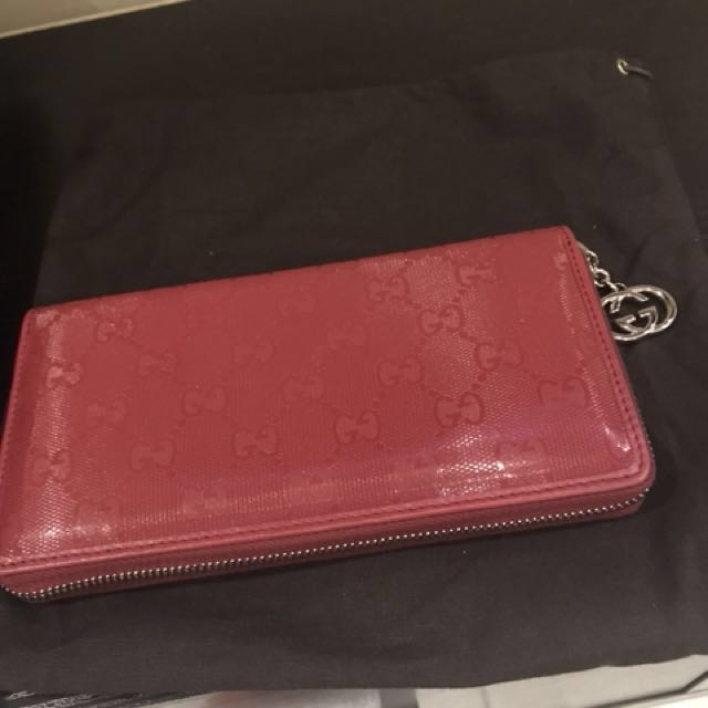 0888d4d24b6446 Gucci Imprime long Wallet - Price Reduced ! , Luxury, Bags & Wallets ...