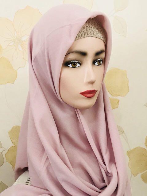 Hijab Bahan Voal Polos 34