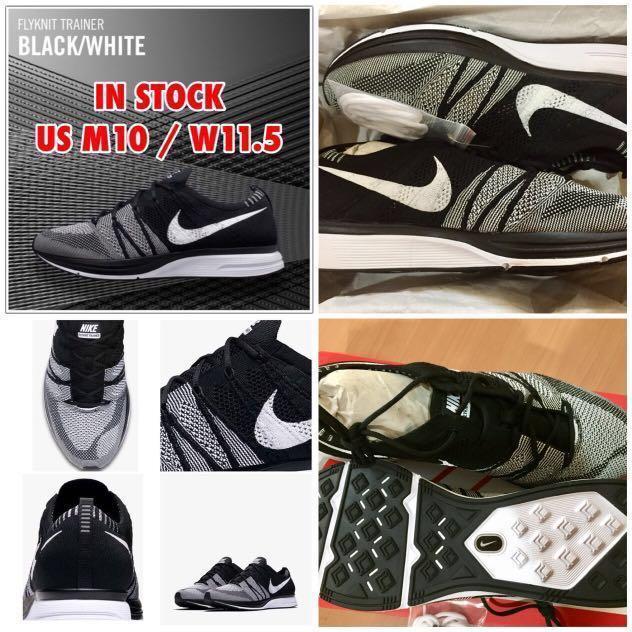 575a8b30 IN STOCK Unisex Nike Flyknit Trainer OREO 2018 | US M10/W11.5, Men's ...