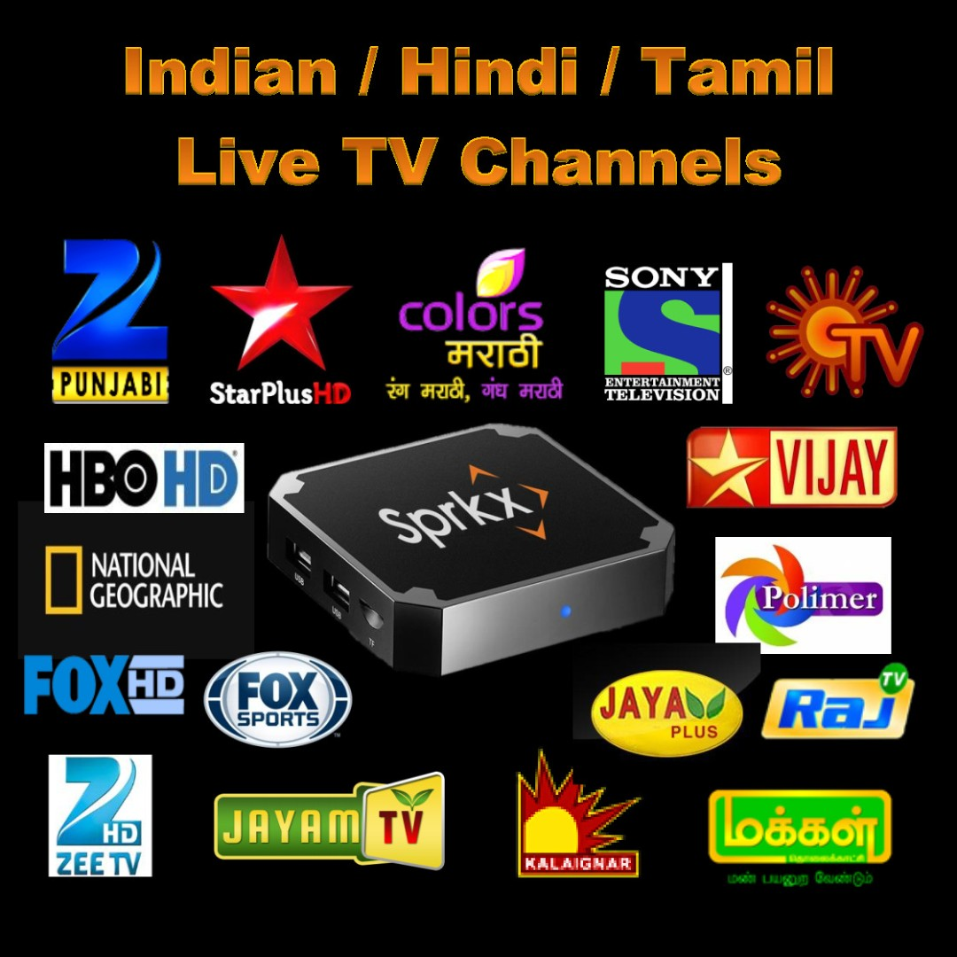 INDIAN + HINDI + TAMIL LIVE TV CHANNELS & ON DEMAND MOVIES