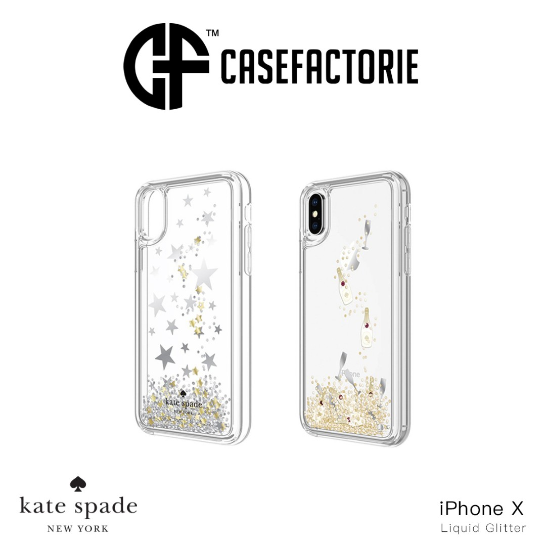 finest selection 9516d ab00a Kate Spade New York Liquid Glitter iPhone X Waterfall Clear Case ...