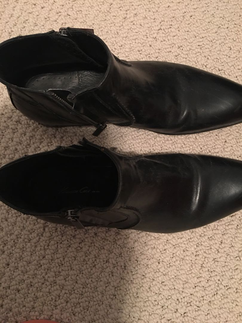 Kenneth Cole - All leather ankle boots for men. Size 11