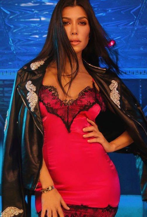 Kourtney Kardashian Slip Dress