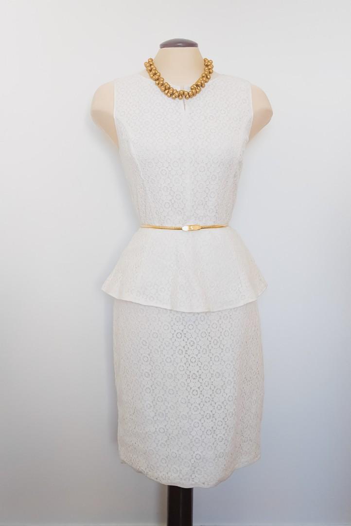 Max Studio   Lace Peplum Dress