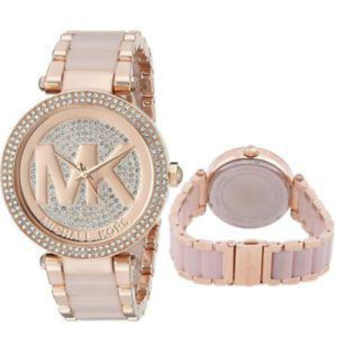 596e55dbe296b8 Michael Kors Parkers Crystal Watch Authentic