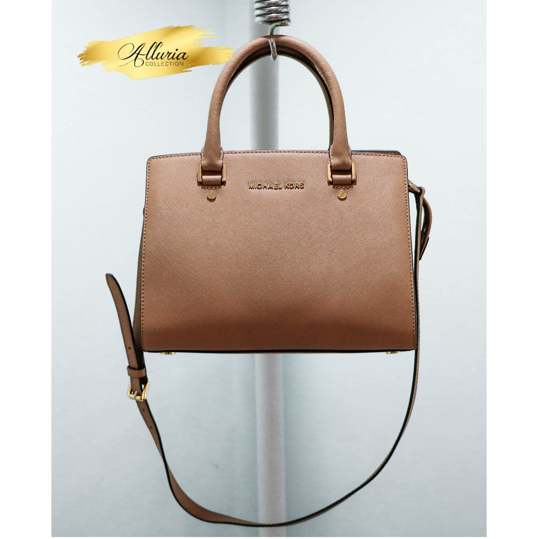68c25ea60856 ... low cost michael kors selma saffiano leather medium satchel authentic  preloved womens fashion bags wallets on ...