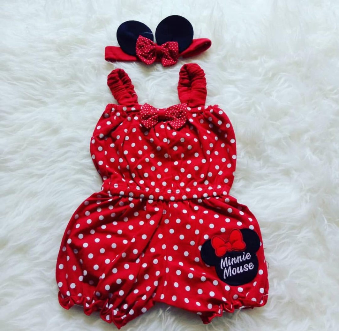 b9e72f941 Minnie Mouse Romper, Babies & Kids, Babies Apparel on Carousell
