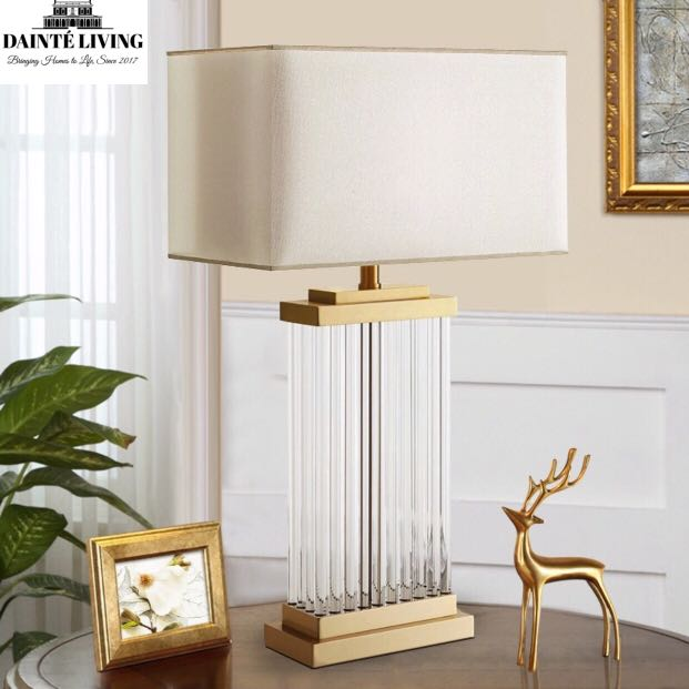 Modern Luxe Crystal Table Lamp D03 Furniture Home Decor On Carousell