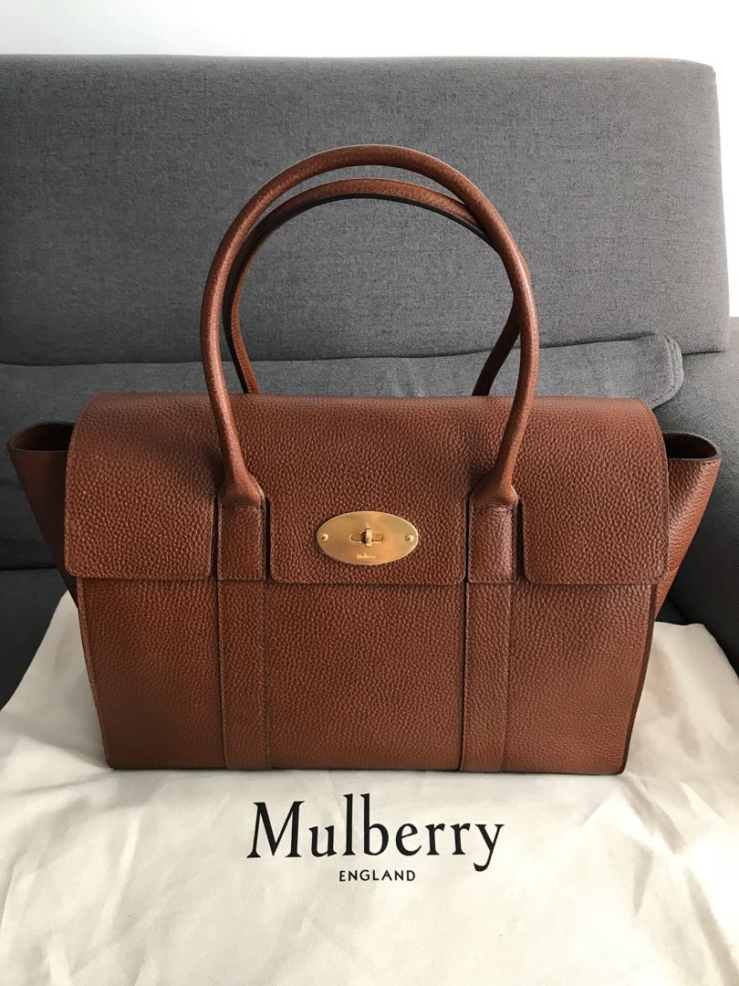 bef000a694 Mulberry Natural Grain Leather Bayswater Handbag Oak