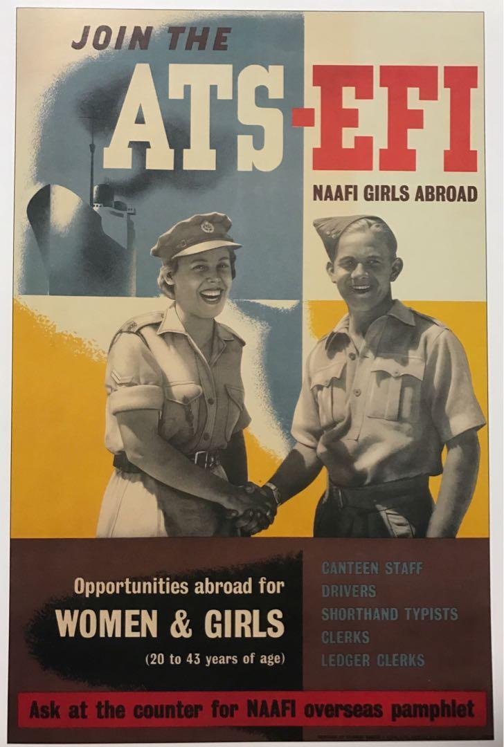 NAAFI poster & 4 Plates