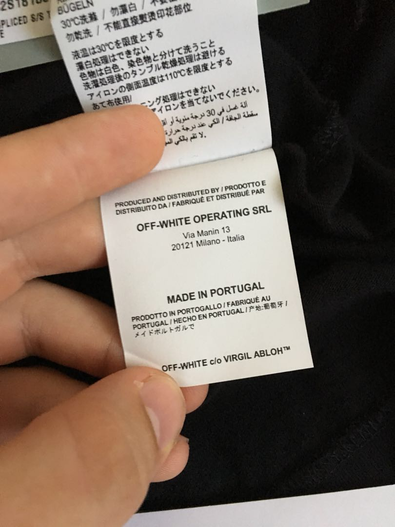 Off white flame / Fire tee, Men's Fashion, Clothes on Carousell