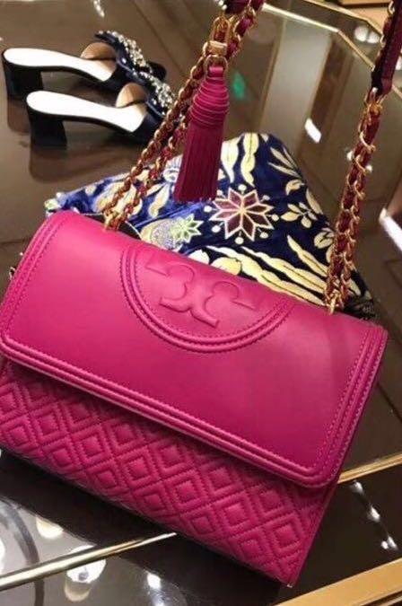 cd0754211ef0 Original Tory Burch Fleming Convertible Shoulder Bag (Deep Pink) Ready  Stock!!! 🌟🌟🌟